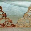 Antique Victorian Cast Iron Leaves Grapes Corbels Bracket Set of 4 2 Pairs