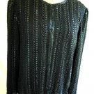 Valerie Kasale Paris Sequin Silk Jacket Trophy Vintage 70s Deadstock with Tag
