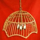 Franco Albini Vintage Chandelier Hanging Light Rattan Mid Century Modern 6 Light