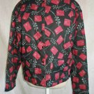 Nos Peruvian Connection Pima Cotton Quilted Jacket Abstract Print Boxy Cropped M