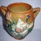 Roseville Pottery Handle Vase Magnolia Tan 4.5in Vintage Antique Decor