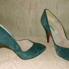 Vintage Grant of Knighisbridge Snakeskin Effect Metallic Toe Low Cut Sides Pumps
