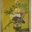 Vintage Modernist Original Painting Flower Moderne Pottery Still Life Kanowny 76