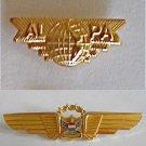 "United Airline Pilot Captain Gold Wing Vintage Original Leavens 3.5"" ALPA Pin"