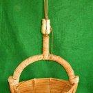 Lamp Vintage Antique Rattan Wicker Reed Mid Century Modern Basket Hawaiian Tiki