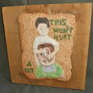 Folk Art Dentist Ceramic Sculpture Plaque Pulling Tooth Dicker Vintage Handmade