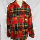 Vintage CHORE Mohair Plaid Jacket Regent Canada Lumberjack Shirt NOS Tartan RED