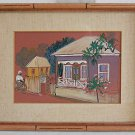 Jamaica Vintage Painting Traditional Jamaican Architecture Kathy Hardie 1974
