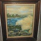 Painting Plein Air Alma Frank Bronx NY 65 Seacoast Maine Cape Elisabeth Vintage