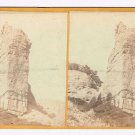 Stereoview Russell UPRR Union Pacific Railroad Monument Rock 250 ft High
