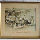 Original Photo Vintage 1946 Union City NJ Fabric Mill Interior Worker Argonaut