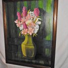 Original Oil Painting Still Life Spring Flowers Framed A L Wood 1991