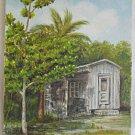 Vintage Painting Pioneer Florida Cracker Cabin Shack Tropic Folk Southern Nancy