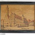 Vintage Tapestry Rothenburg O Tbr Medieval Town Germany Framed Cathedral Regency