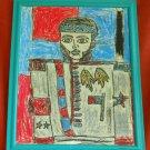 Haitian Oil Painting Alexandre Petion H Escarment Modernist Cubism Portrait