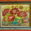Still Life Flowers Oil Painting on Paper Mary Murphy Winter Park Florida 1974