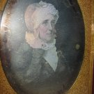 Daguerreotype Painting Half Plate Tinted Pink Colored Woman Finger Pointing Case
