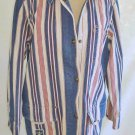 NOS Hunting Utility Barn Jacket Folky Coat Ralph Lauren Stripe Red Cream Navy M