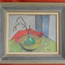 Vintage Surrealist Original Oil Still Life Painting Modernist Michigo Framed