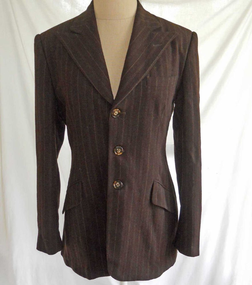 Ralph Lauren Collection Couture Purple Label Trophy Blazer Jacket 6 Wool USA