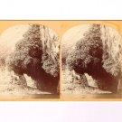 Stereoview Wheeler Expedition 1872 #9 O'Sullivan Nude Man The Bath Kanab Canon