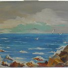 Vintage Painting La Jolla California Ocean Seascape Ornithology Bluff L Quinn