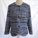 Lafayette 148 Jacket Blazer Deadstock NOS Trophy Tweed Boucle Blues  Metallic M
