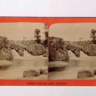 Stereoview P Lasseson Dakota Sioux Falls Double Rocky Waterfall River
