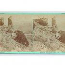 Stereoview Savage Ottinger 159 UPRR Union Pacific Rail Road Man Sentinel Rock