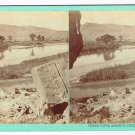 Stereoview Savage Utah UPRR Green River, (Rail Road) Grade in Distance