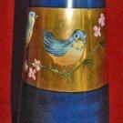Antique Altwasser Vase Cobalt Gold Gilt Hand Painted Birds Ornithology Cherry