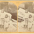 Stereoview 1873 Wheeler 29 Navajo Indian Brave with Bow Arrow TH O'Sullivan