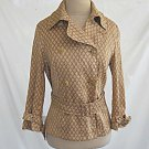 Piazza Sempione Jacket Trench Belted Blazer Swagger Deadstock Nos Print Italy 46