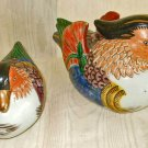 Ducks Andrea Sadek Ornithology Pair Pottery Ceramic Hand Painted Modernist