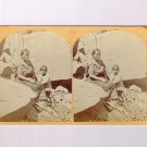Stereoview 1873 Wheeler 27 Navajo Indian Squaw Child Blanket Canon de Chelle