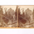 Stereoview W G Chamberlain # 181 Colorado Cheyenne Canon Lumberjack Logging