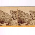 Stereoview Jackson Omaha UPRR 116 Union Pacific RR Track Rocks Echo Canon Utah