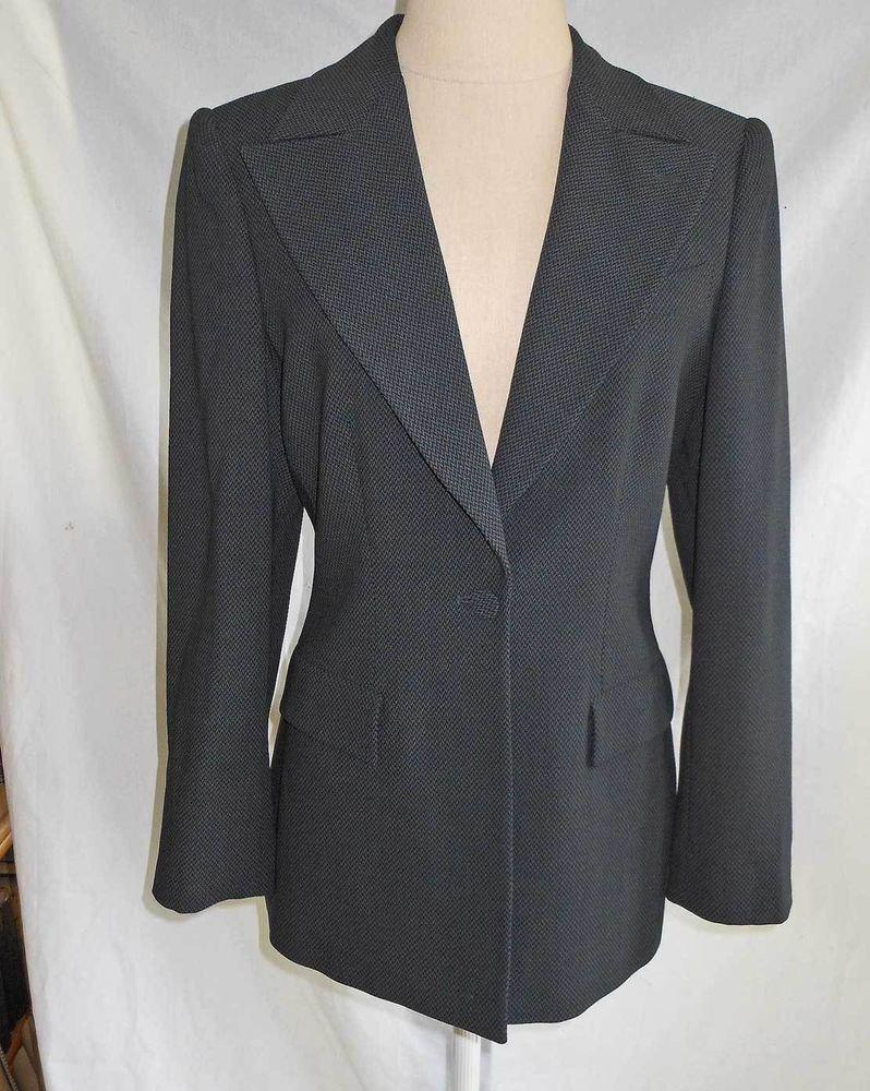 Giorgio Armani NOS Deadstock Trophy Jacket Blazer Peak Lapel Wool Retail $3990