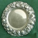 Vintage Bazar Colon Milano Italy Repousse Silver Plate 12 in Grapes Pears Fruits