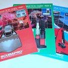 Vintage Scubapro 1984 3 Part Catalog Regulator Spear Gun Knife Tank Fashion 88p