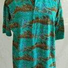 Kahala Marlin Fishing Polo Distressed Cotton Shirt S NOS  Vintage Game Deep
