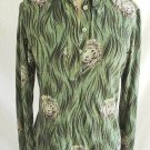 Saint Clair Thayer Disco Allover Lion Shirt Blouse Vintage 60s Zebra Print