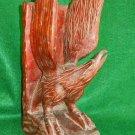 Ornithology Vintage EAGLE Antique Folk Art Wood Carving American Large 12 in