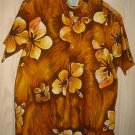 Hawaiian Print Kauai Shirt Handal Great Label Bold Hibiscus Vintage 70s L