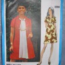 Vintage 70s Bill Blass Vogue A Line Dress Pattern 2299 Miss One Piece Dress 14