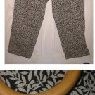 New Old Stock with Tag Liz Claiborne Cropped Leaf Print Jeans Pants Capri NOS 6