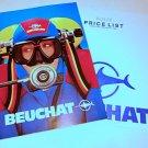 Vintage Beuchat 1985 Catalog Regulator Spear Gun Knife Watch Fins Wet Suit Price