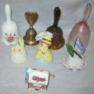 Collection Lot 8 Vintage Bells Valentine Flower Heart Ceramic Porcelain Pottery