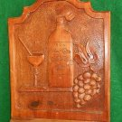 Shelf Vintage Antique Massive Revival Wood Carved Carving Flor de Cana Rum