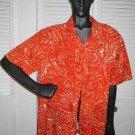 Hawaiian Shirt Vintage Polynesian Bazaar Waikiki Hawaii Orange